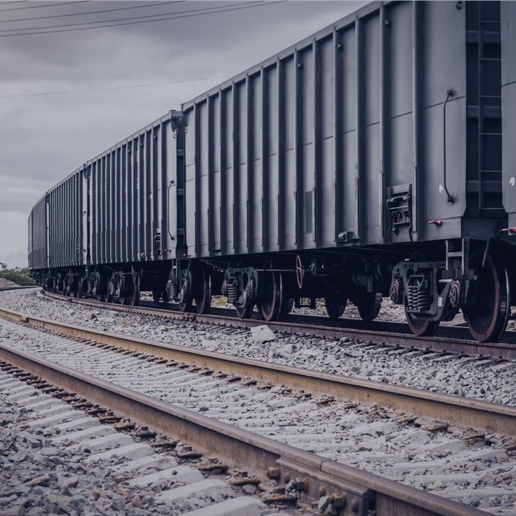 Transportation of coal, raw materials for iron and steel and ferrous metals